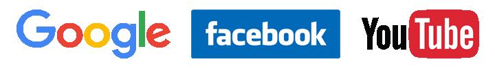 google facebook youtube logo